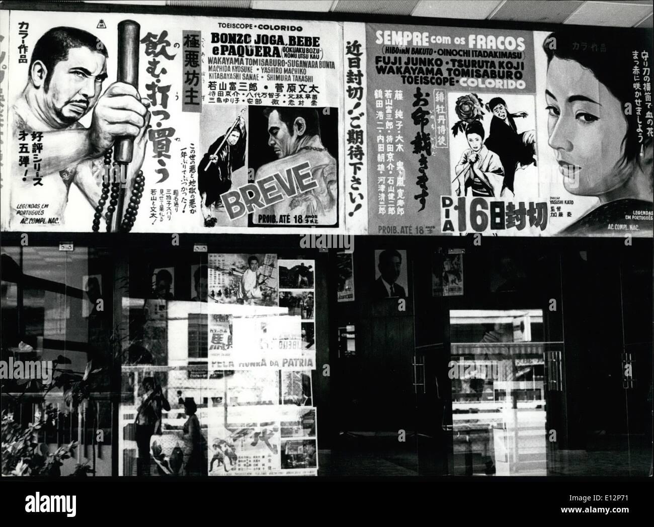 Feb. 24, 2012 - Japanese movies. Sao Paulo - Brazil - Stock Image