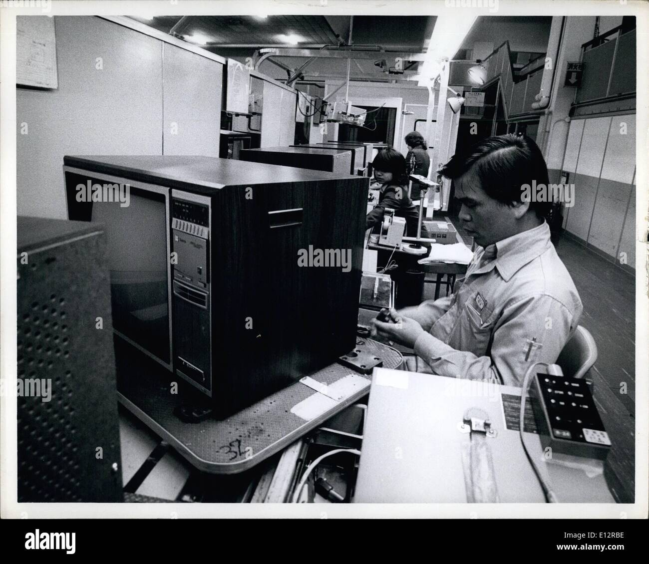 Feb. 24, 2012 - Panasonic Color television production at their Ibiraki plant in Osaka Japan. - Stock Image