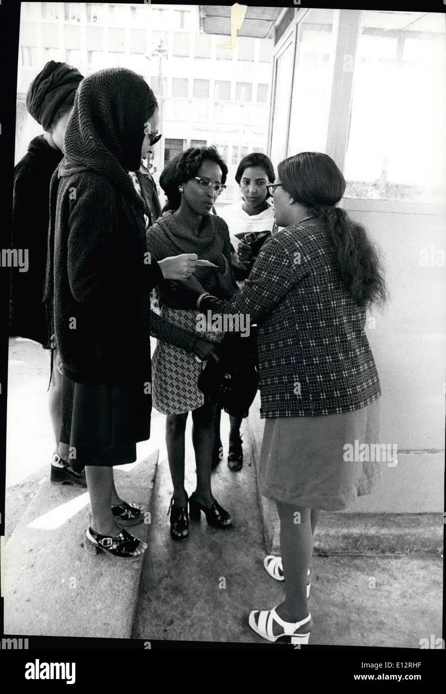 Feb. 25, 2012 - Bombs in Addis Ababa Even women were not exempt form search, and these girls are vetted by a policewoman in plain clothes before being allowed to go to their offices. - Stock Image