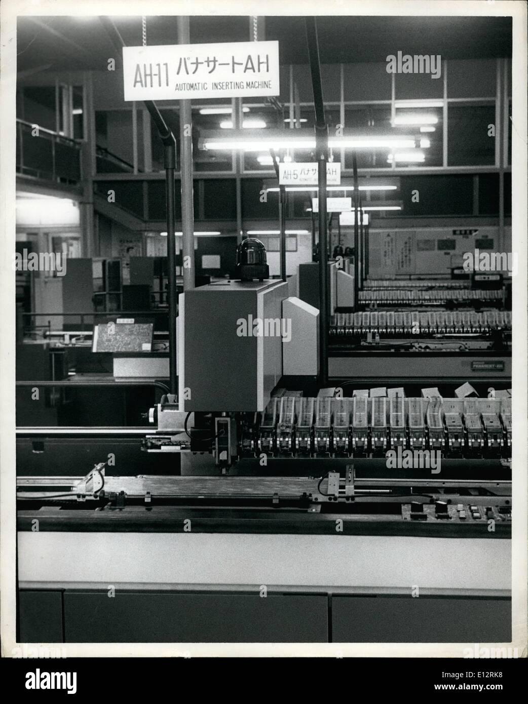 Feb. 25, 2012 - Making printed circuits. - Stock Image