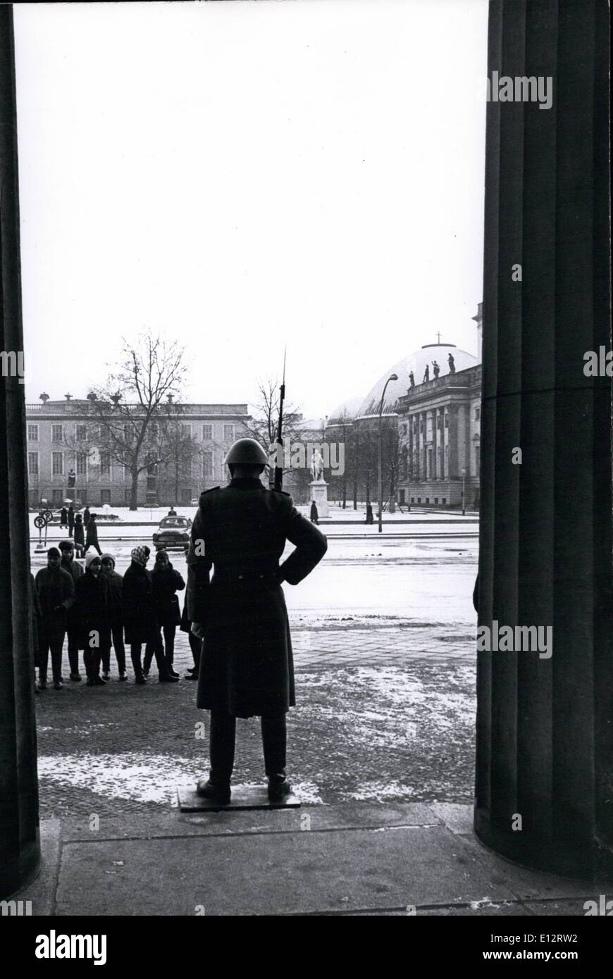 Feb. 25, 2012 - East Berlin Guard at the memorial for the Victims of fascism & militarism.  US Stock Photo