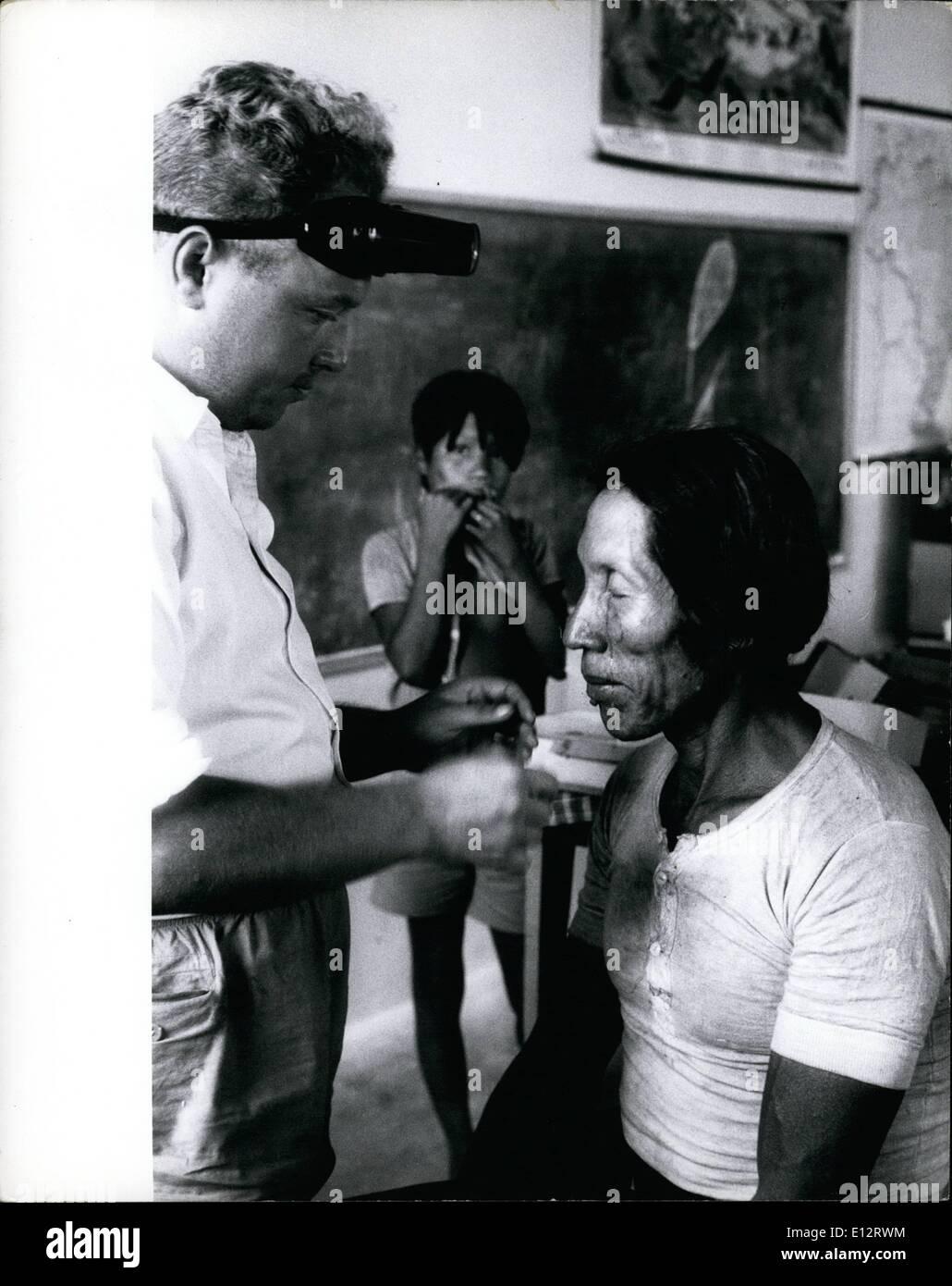 Feb. 25, 2012 - Brazilian Govt. Melisse care for Moto Indians of the Caraya tribe at Bernard Island. - Stock Image