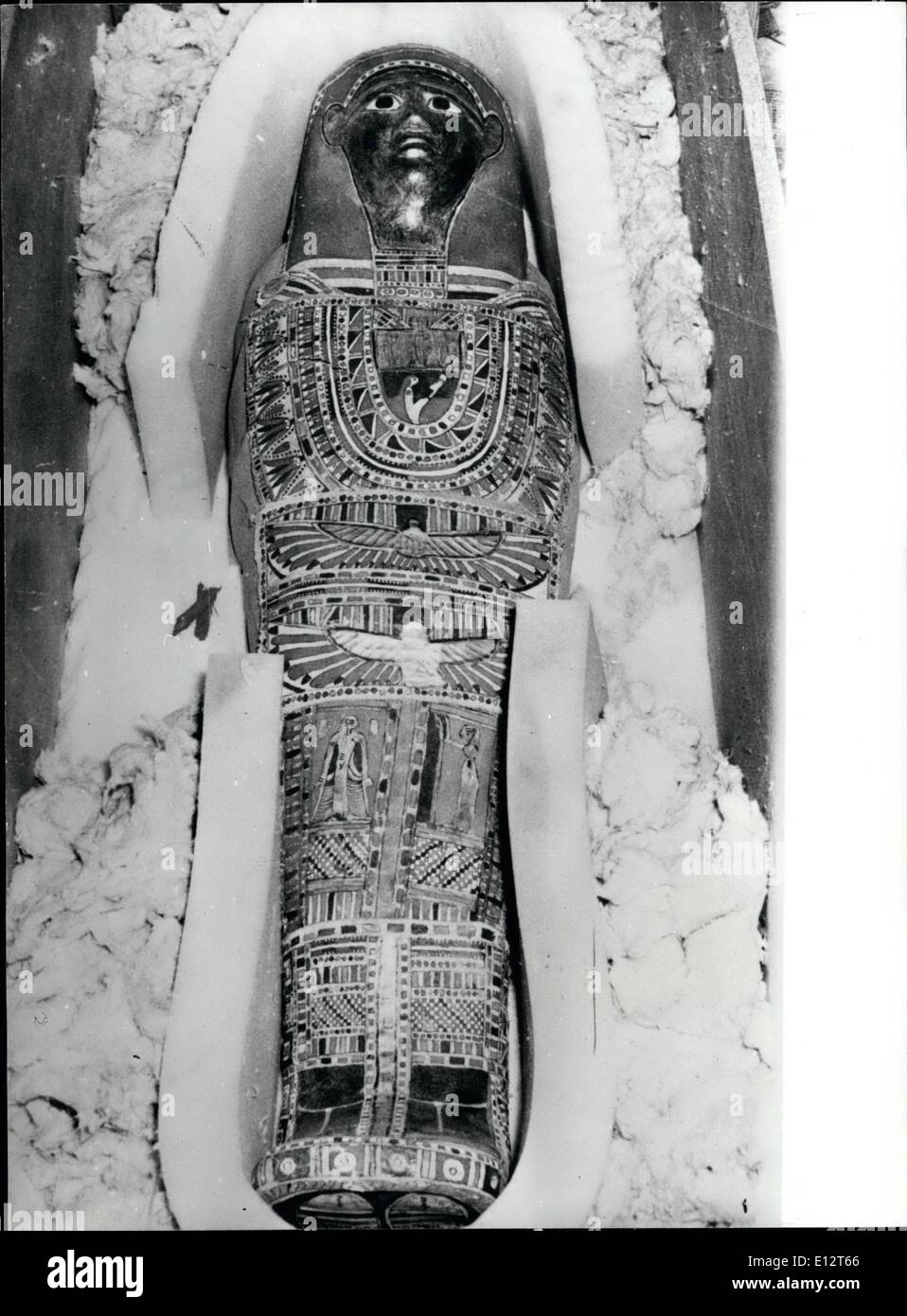 Feb. 25, 2012 - Two ancient Egyptian cemeteries unearthed.: Two Pharaonic Cemeteries near Kom Ombo Temple Upper Egypt, have recently bnn unearthed. They were found comprising some 250 graves of a number of ancient Egyptian Deities. Digging work started since the year 1965. Among the graves unearthed were six of sacred Alligators which was the deity of Kom Omb Temple. Sharing this sacred Alligator was the sacred Vulture who was also worshipped by the ancient Egyptians. An alligator egg was discovered in these cemeteries as well as a number of the sacred snake and also some mummified Deers - Stock Image