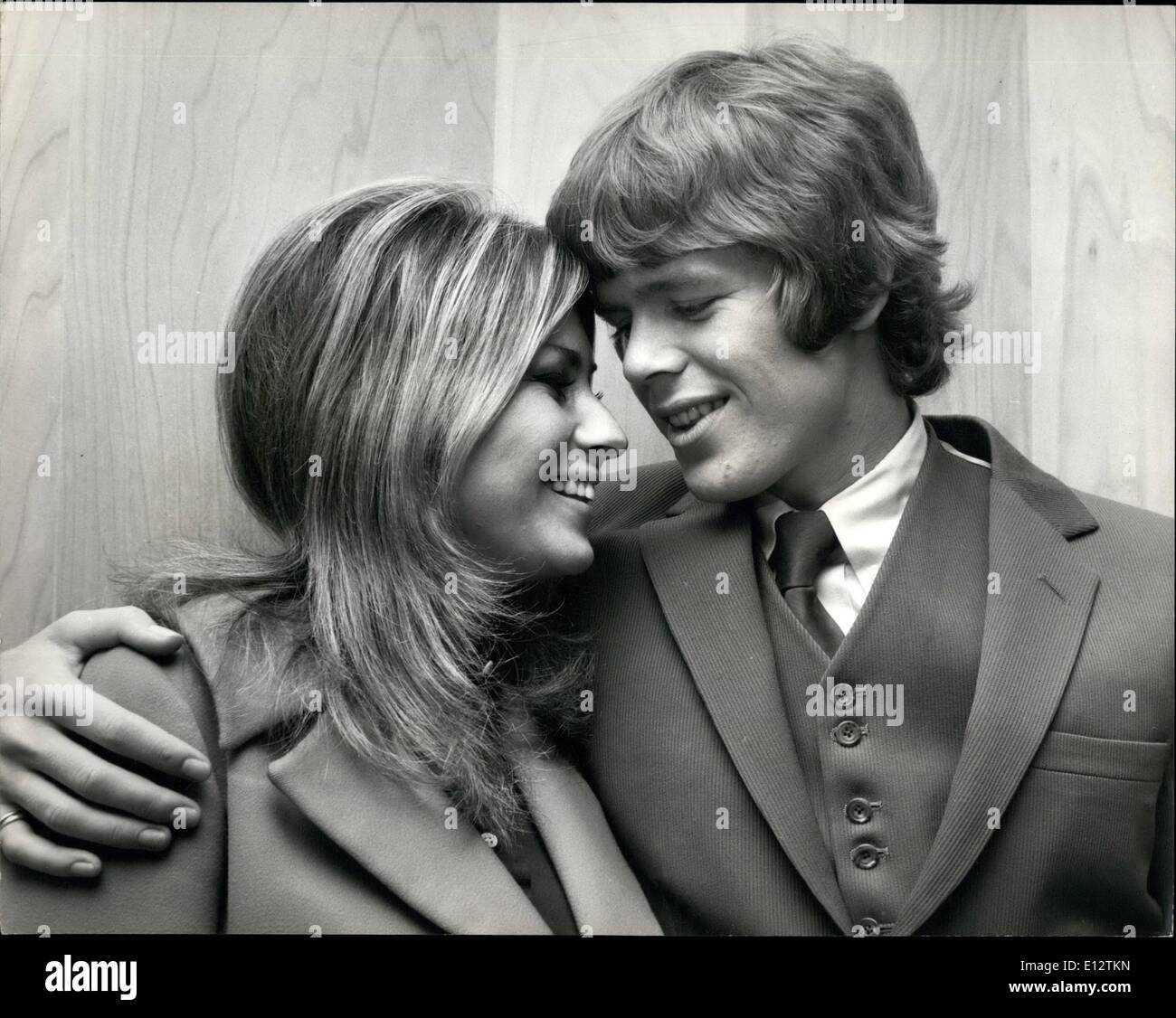 Feb. 24, 2012 - The Hermit Takes a Bride. Herman the leader of the Hermits pop group has, it seems, given up his hermitage. For - Stock Image