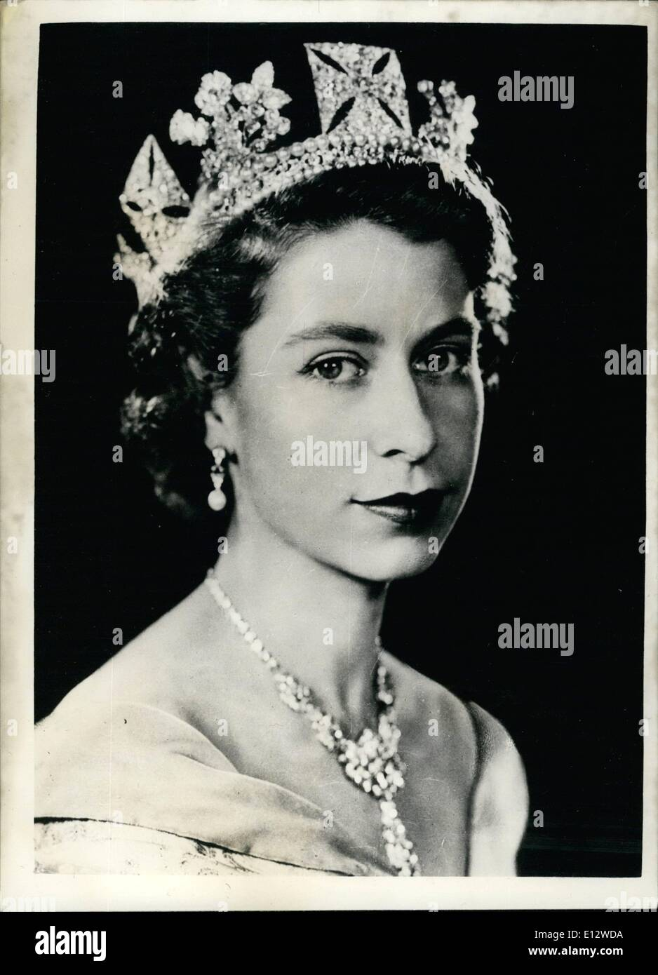 feb 26 2012 command portrait of her majesty queen elizabeth ii first E12WDA