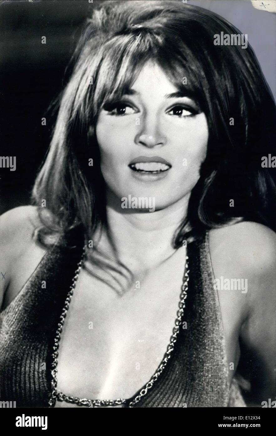 Feb. 26, 2012 - Mrs. Peulgetty, Jr. Talitha Pol in ''Barbarella'' role. - Stock Image