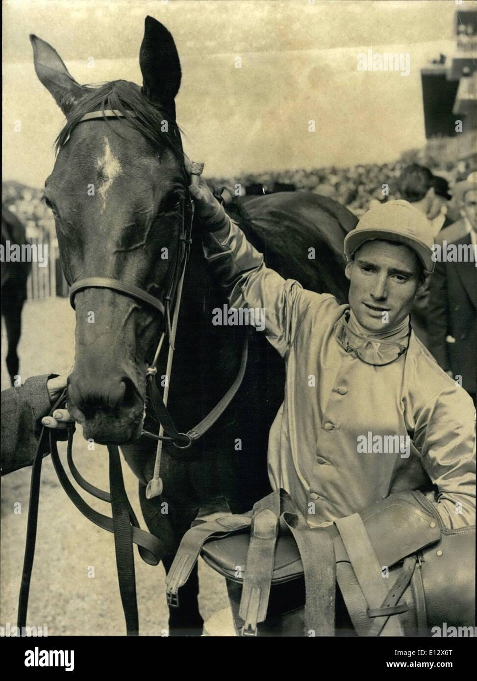 Feb. 25, 2012 - Dushka, who is owned by Francois Dupre and ridden by G. Thiboeuf, won the Prix de Diane after a race that was held today at Chantilly racetrack. Masai Women Attend Tribal Gathering Arusha Tanganyika - Stock Image