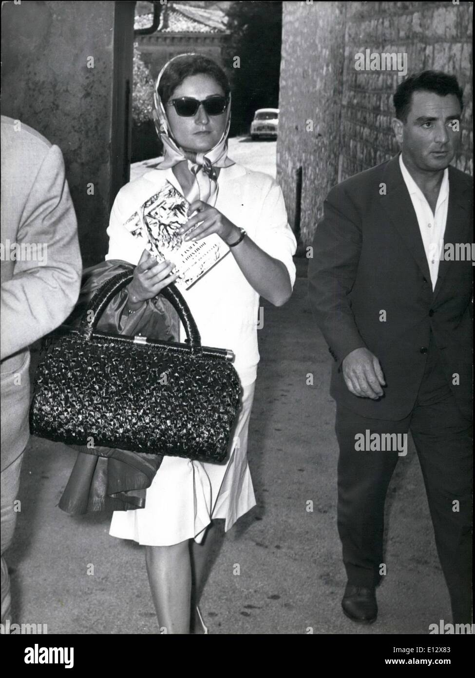 Feb. 25, 2012 - Sasha's mistress charged with receiving. OPS: Helene Chambovet, mistress of handsome Sasha , the Riviera diamond thief, leaving the Magistrate's Office at Grasse after being charged with receiving. Sept. 10th/61 - Stock Image