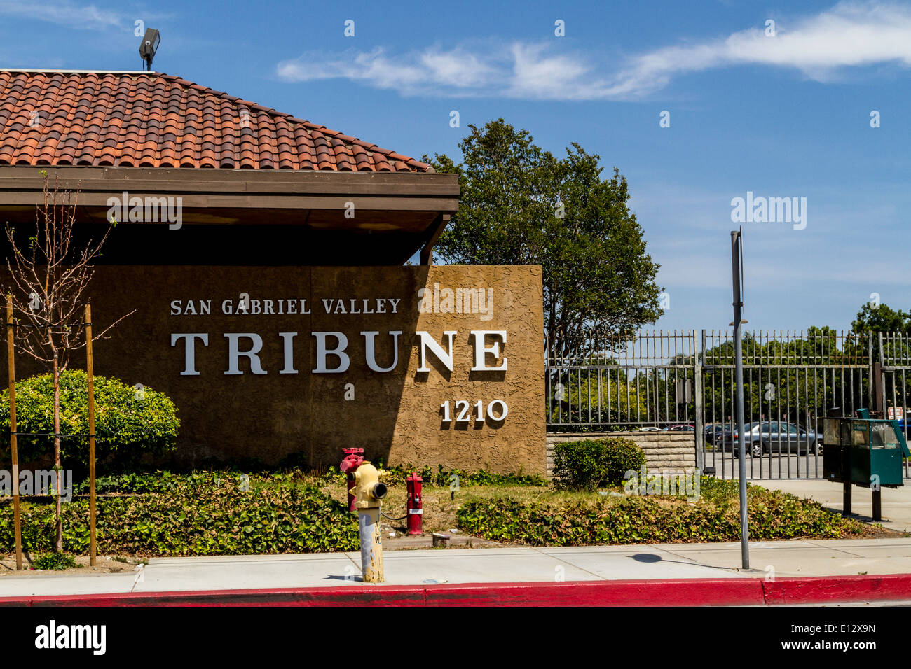 The San Gabriel Valley Tribune Newspaper offices Stock Photo