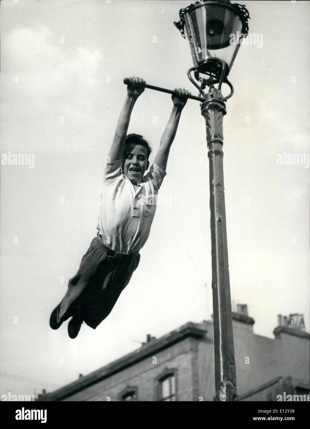 Feb. 26, 2012 - Initiative In The Play Street: There are no swings and round abouts in a Play Street, but this young - Stock Image