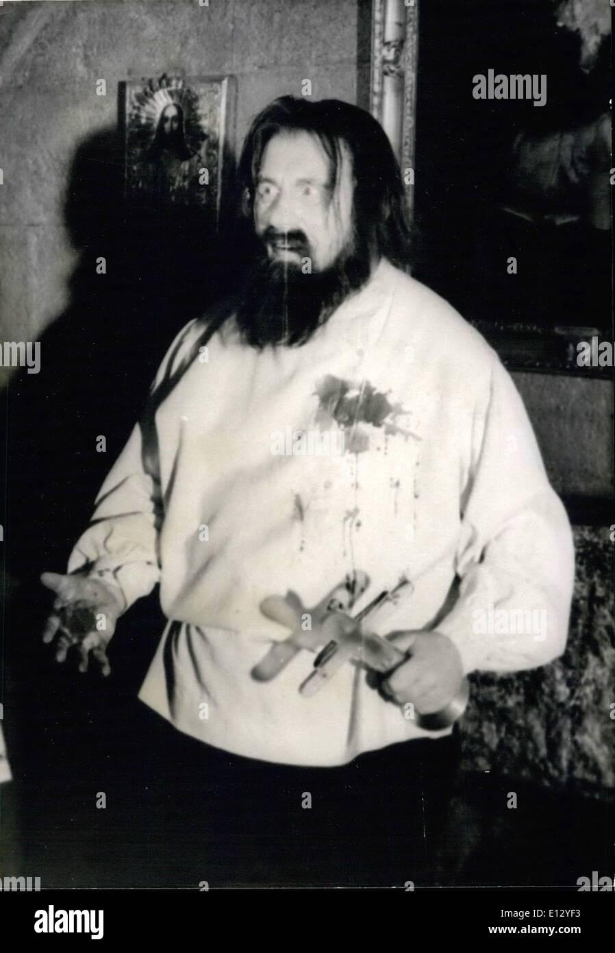 Feb. 26, 2012 - Rasputin Played by Gert Froebe - Stock Image