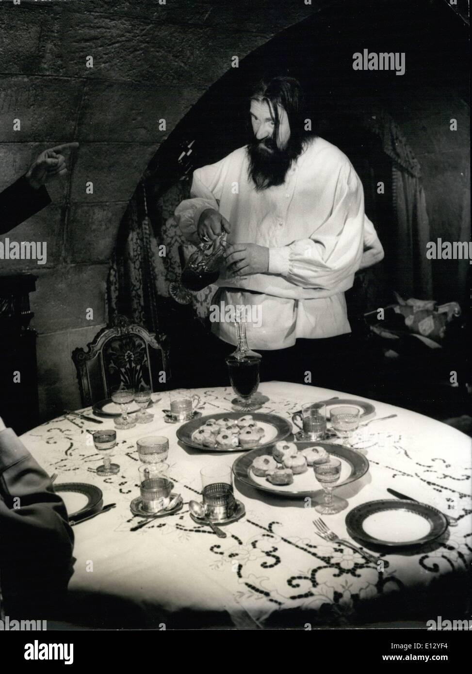 Feb. 26, 2012 - Rasputin Played by Gert Froebe. - Stock Image