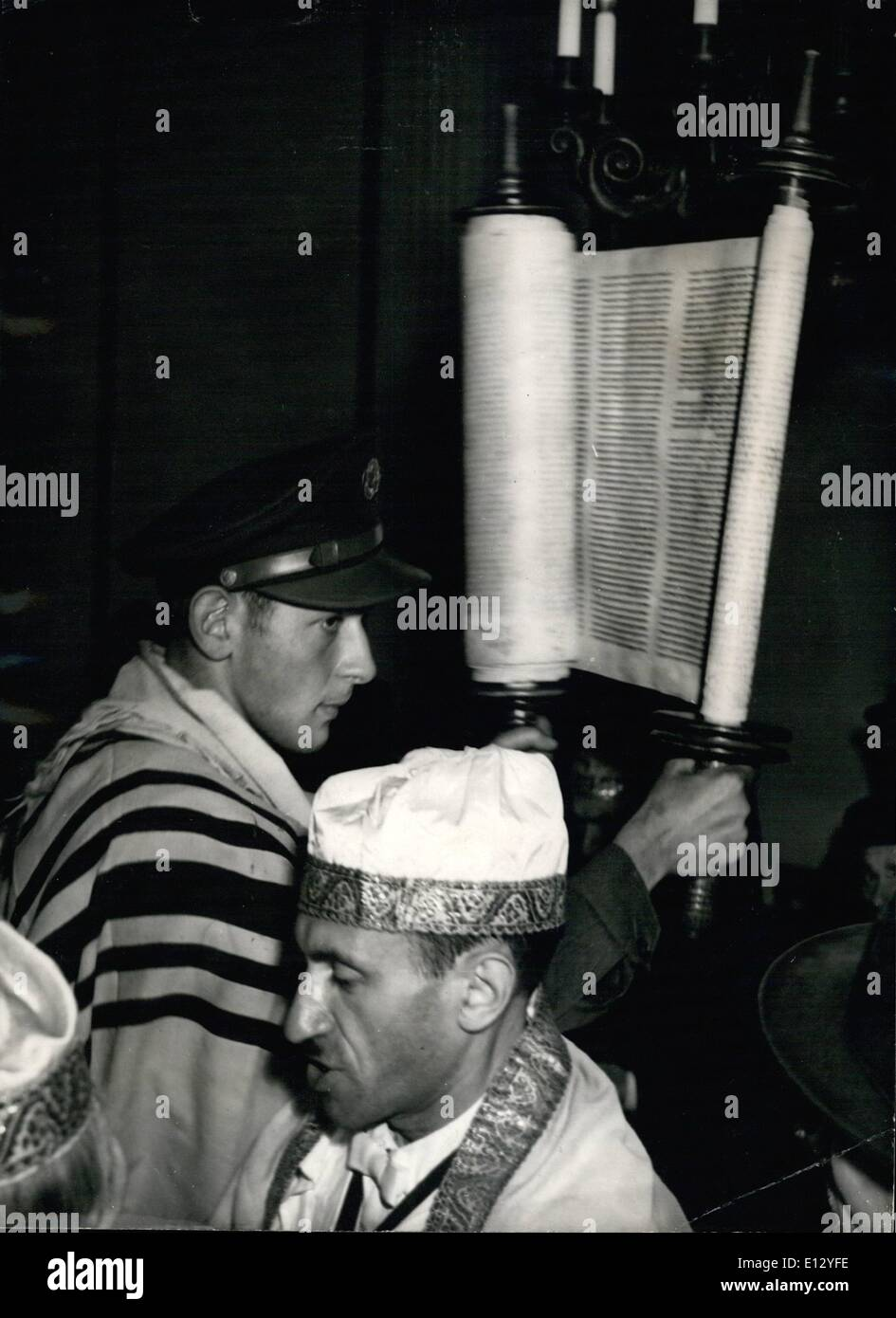 Feb. 26, 2012 - naz. for the first time the bound of shore-an or Rama horn was heard in Berlin when the m, Jewish - Stock Image