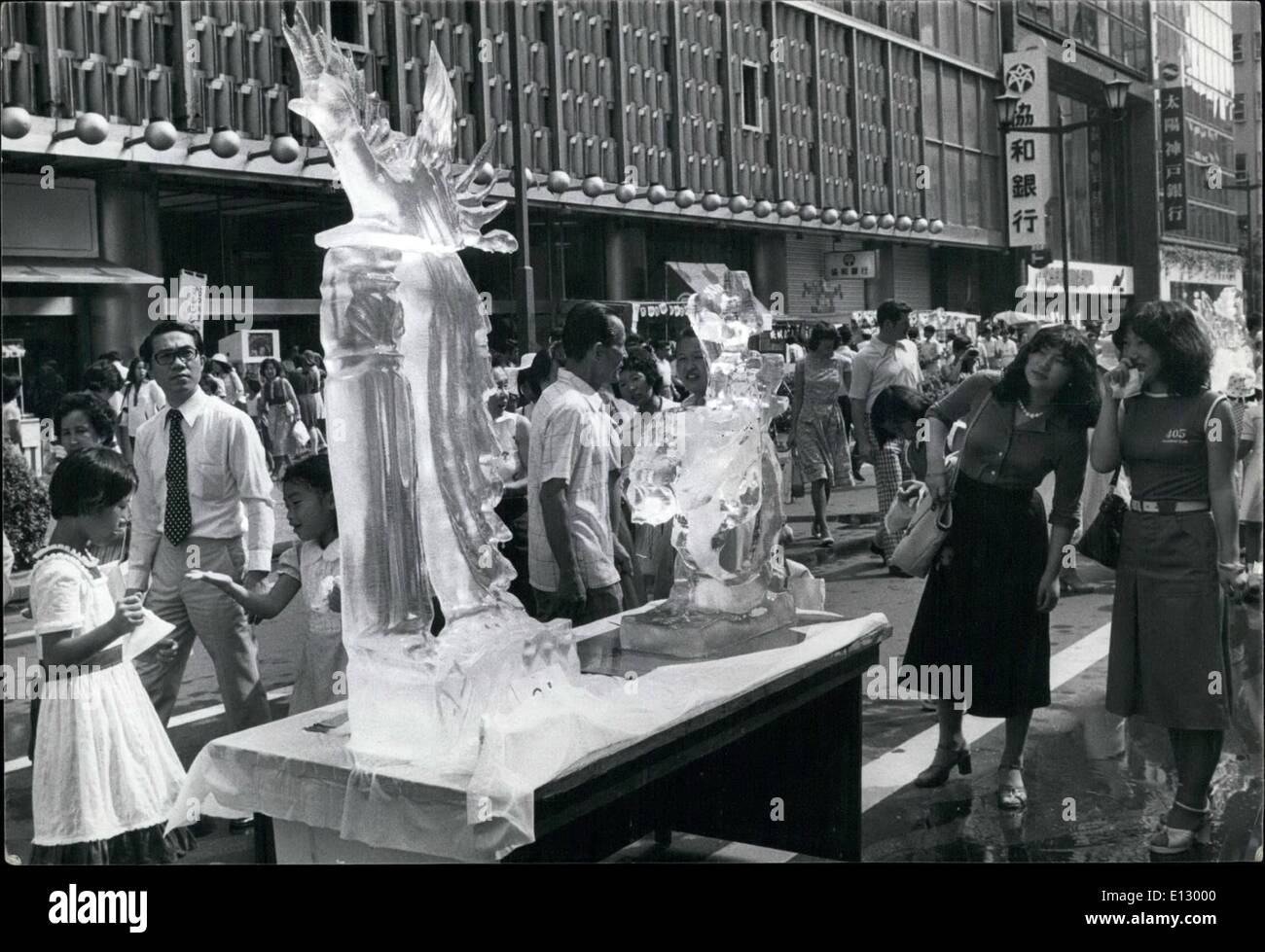 Feb. 25, 2012 - Ice Sculptors Keep Cool in Tokyo - Stock Image