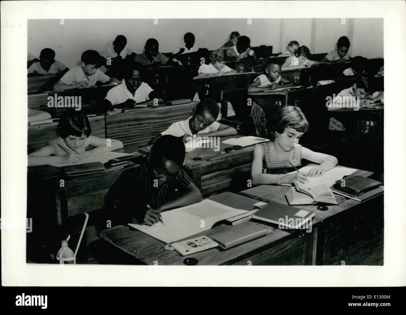 Feb. 25, 2012 - Belgian Congo -- Elementary Classes at the Athene Royal at Leopoldoille. ne - Stock Image