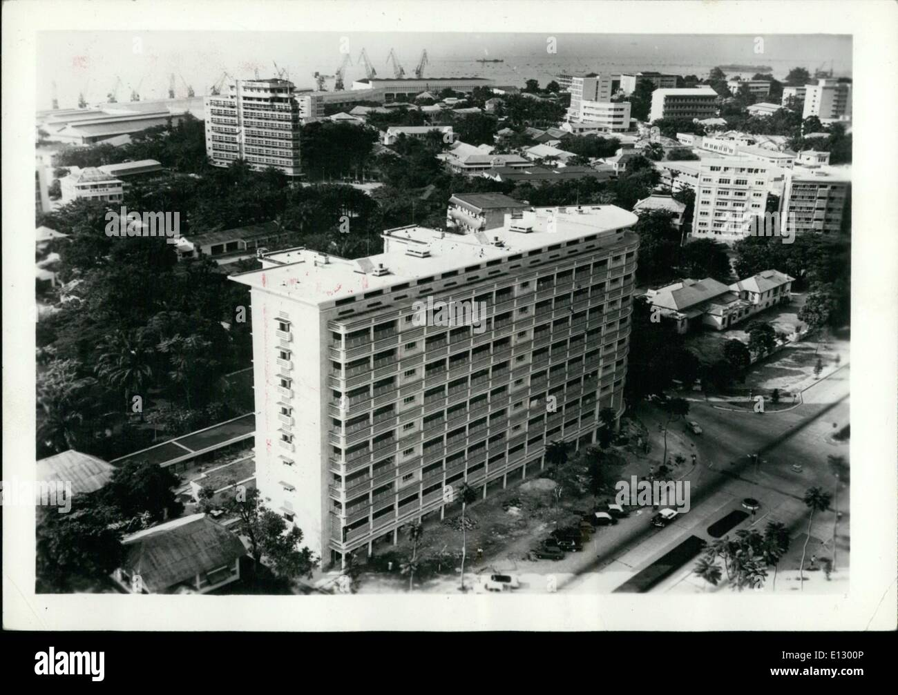 Feb. 25, 2012 - Zaire: A View of the commercial center in Kinshasa. - Stock Image