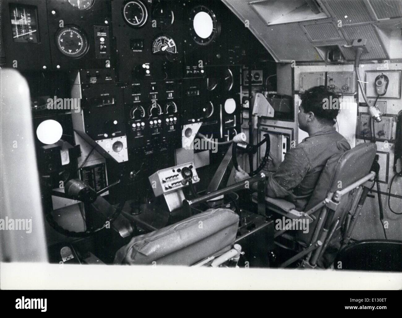 Feb. 26, 2012 - The Control Room - which resembles an aircraft cockpit. - Stock Image