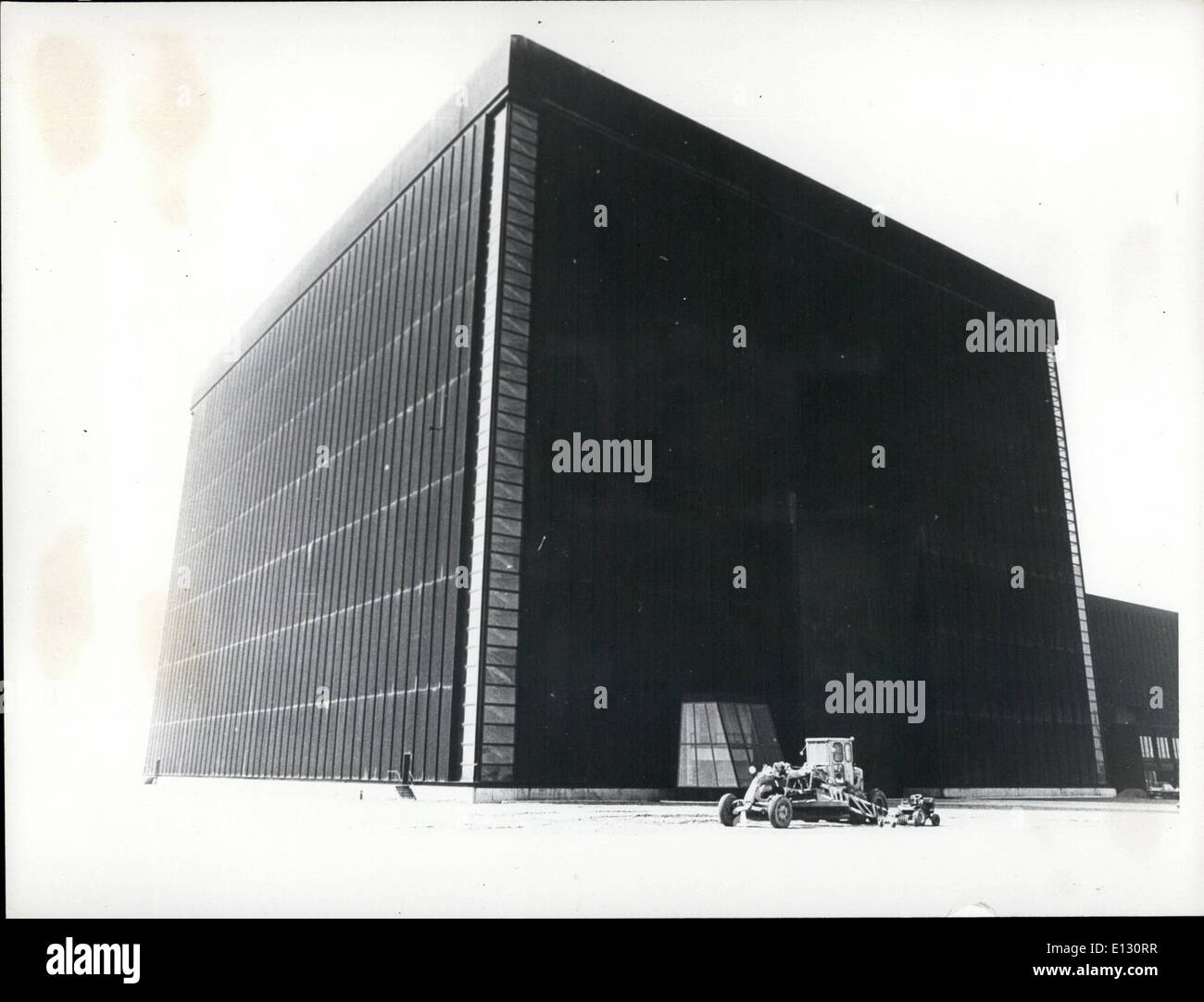 Feb. 26, 2012 - This immense black cube houses the high-voltage laboratory. The main test hall measures approximately 250 ft by - Stock Image
