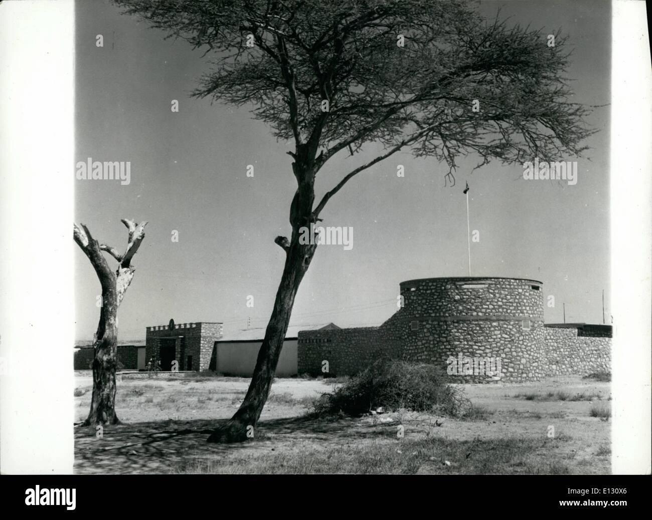 Feb. 26, 2012 - The Somalian Scouts A view of the Fort which serves at the headquarters of the Somalian Scouts. In the foreground is a Thord Tree. - Stock Image
