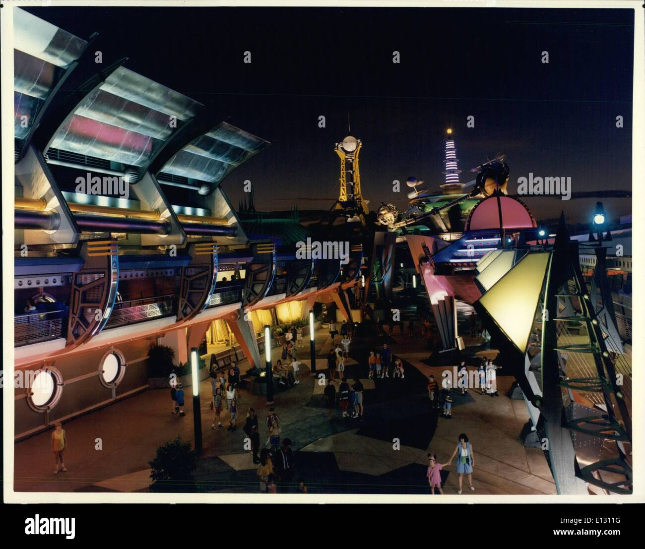 Feb. 26, 2012 - Tomorrowland To Become Fantasy Future City The future that never was is just around the corner in Stock Photo