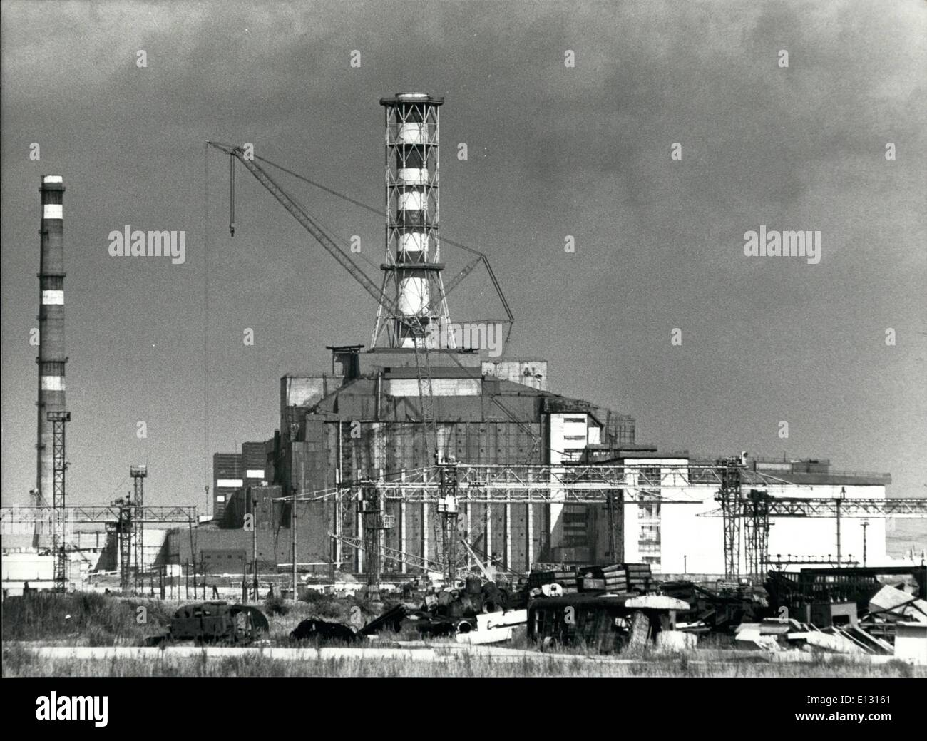 Feb. 26, 2012 - The Atomic Plant of Chernobyl. August 1990 - Stock Image