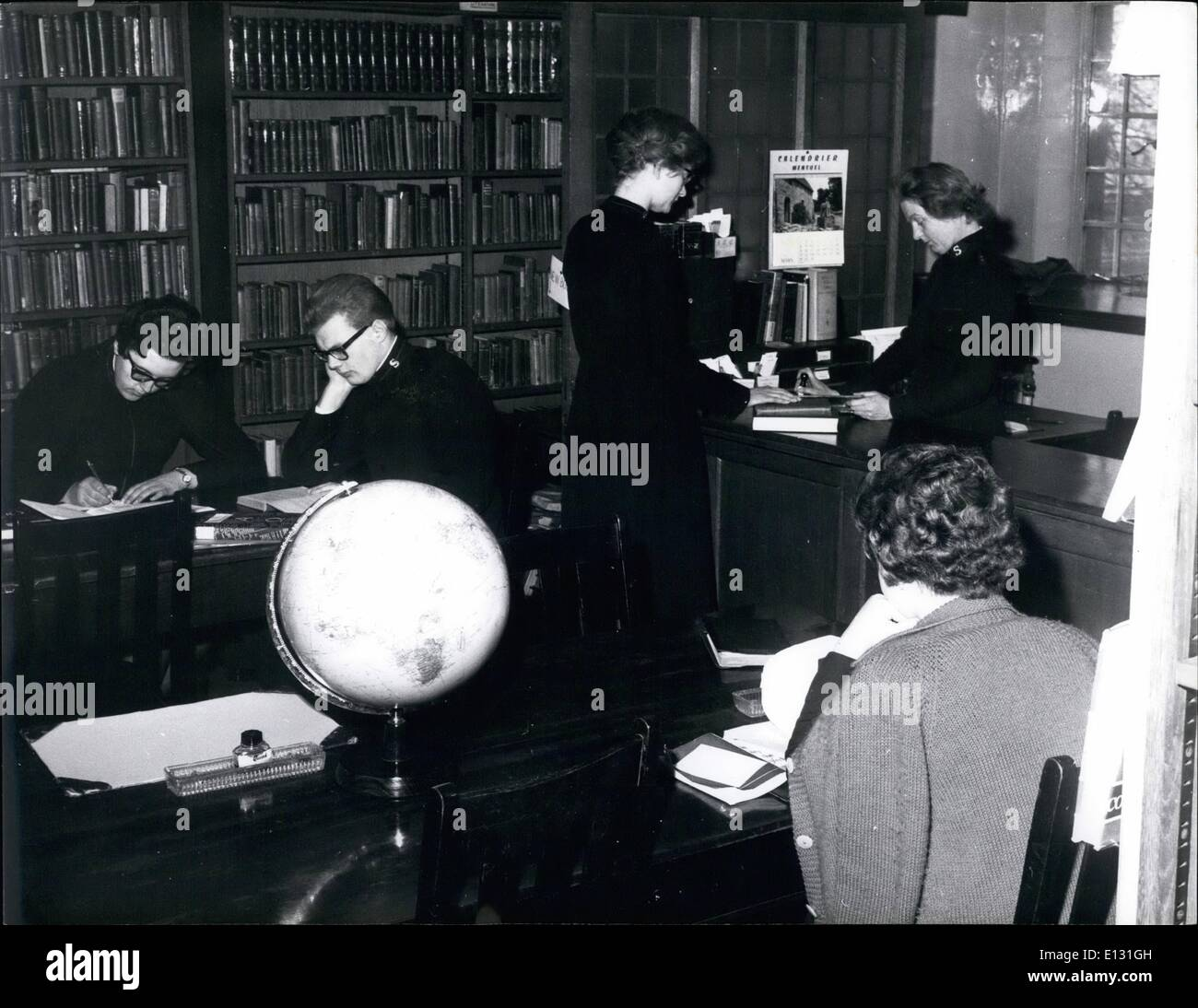 Feb. 26, 2012 - Cadets in the library @ Salvation Army's training College. - Stock Image