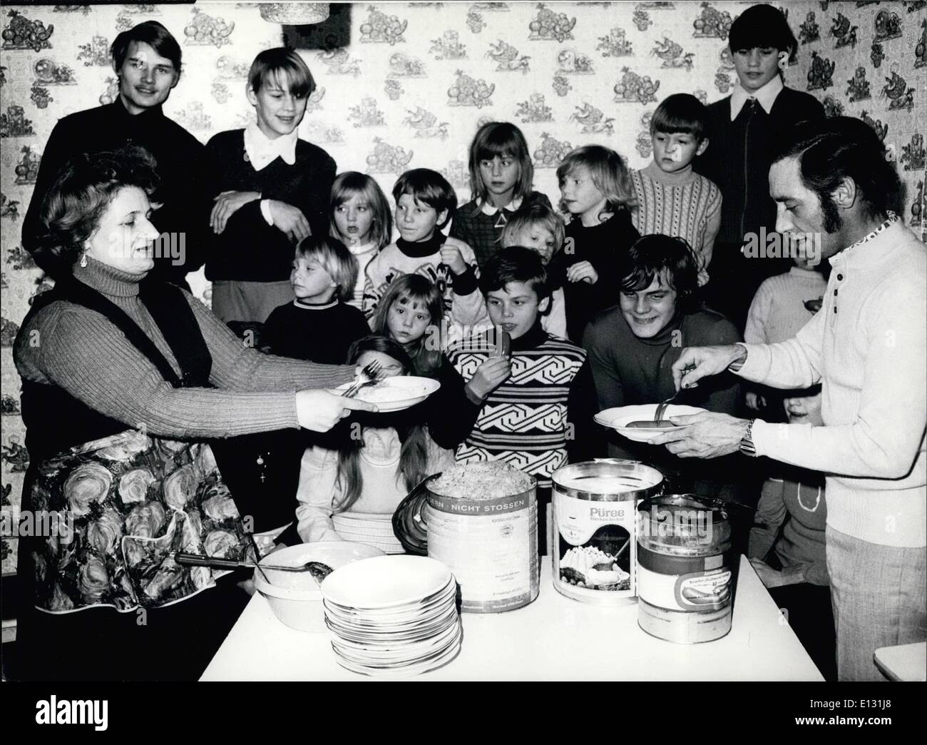Feb. 26, 2012 - The Koch family is probably the largest one in West Germany. Large quantities are need, when the Stock Photo