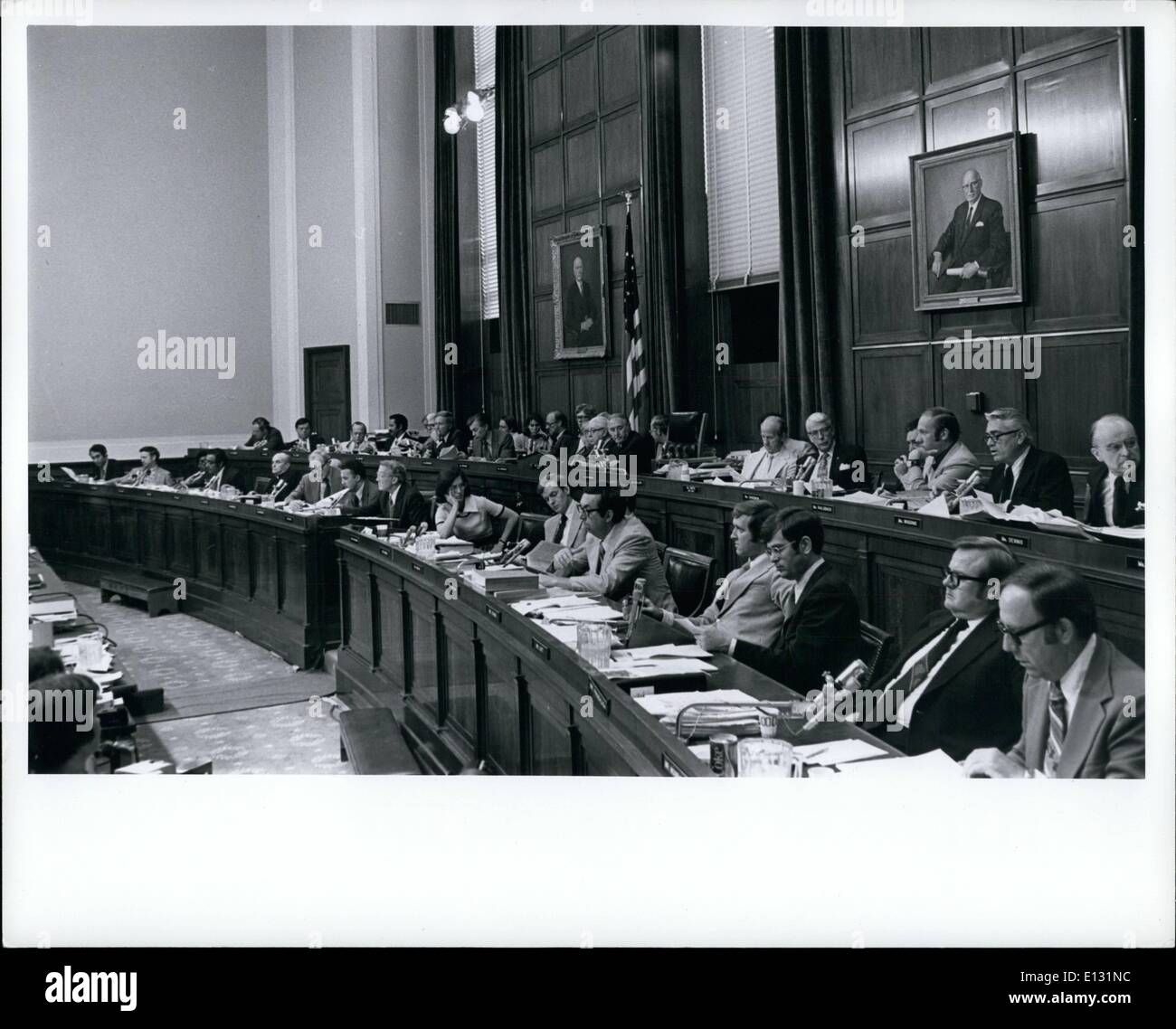Feb. 26, 2012 - House Judiciary Committee during Independent Hearings of Pres Richard Nixon - Stock Image