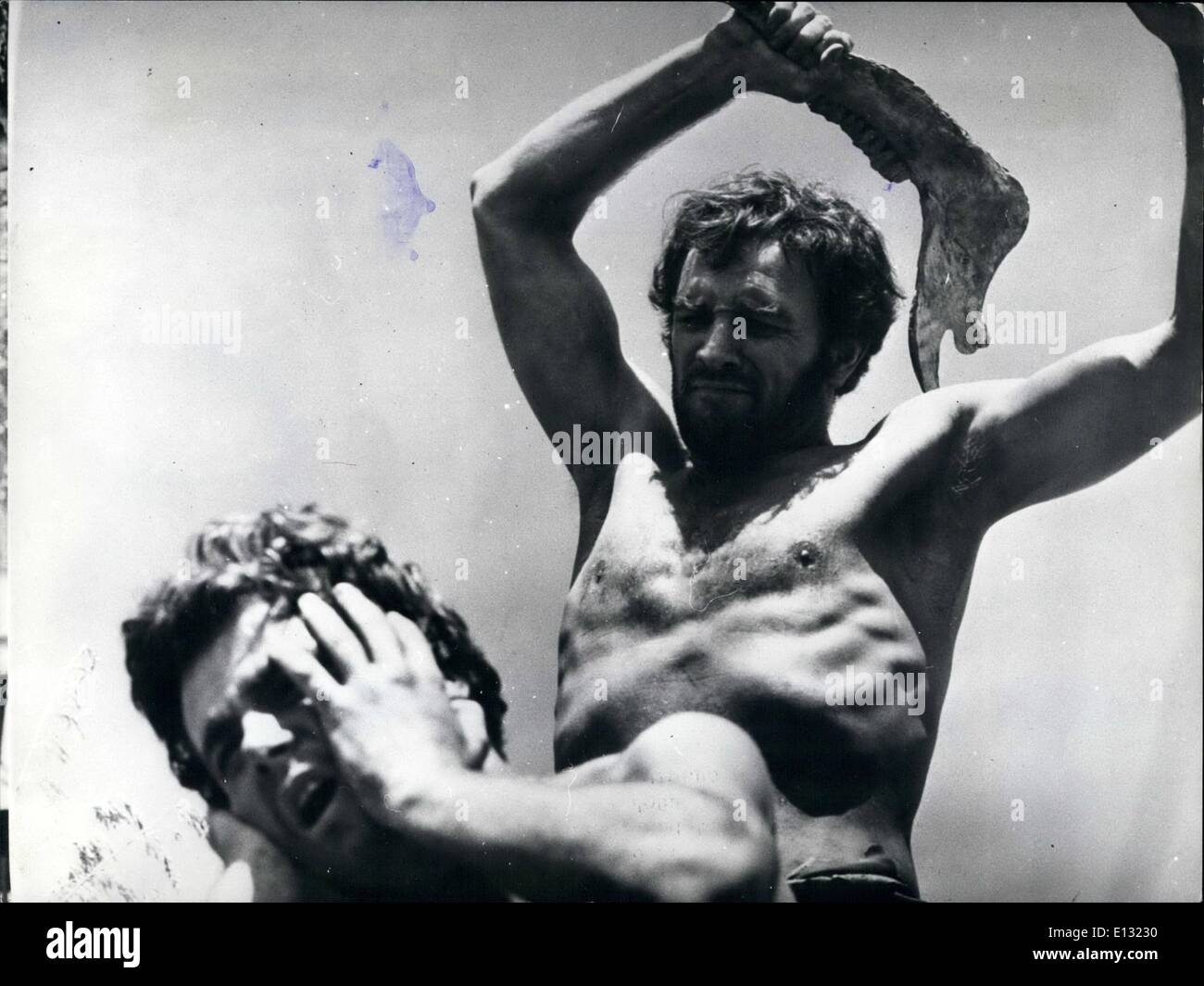Feb. 26, 2012 - Cain and Abel: the first murder in the history is re-created for Dino De Laurentiis '' production - Stock Image