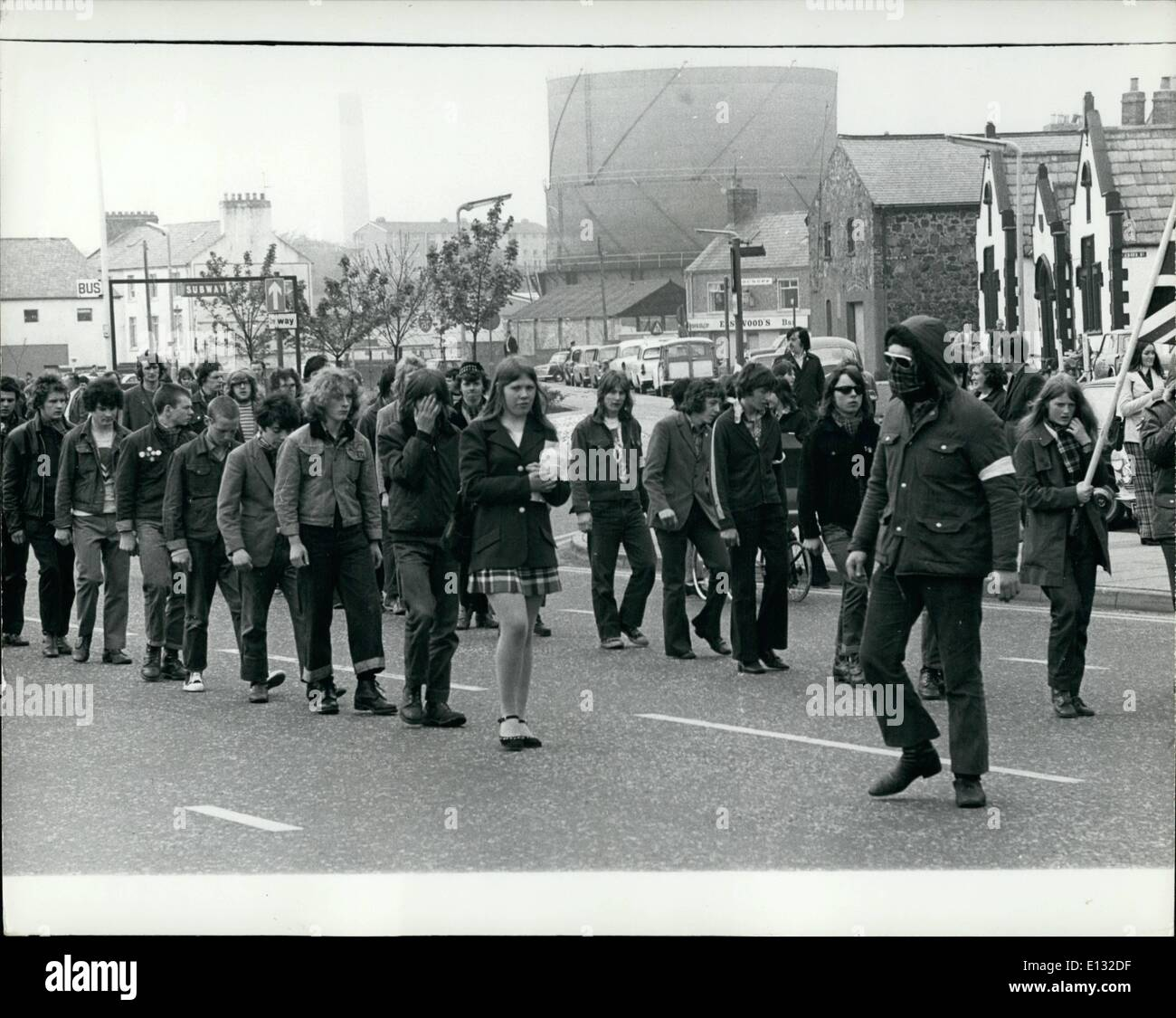 Feb. 26, 2012 - Protestant Tartan Gangs near Belfast, N. Ireland - Stock Image