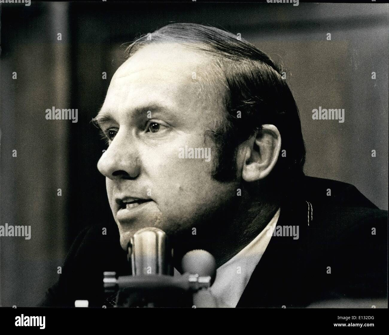 Feb. 26, 2012 - The House Judiciary Committee, July 24-26, 1974. Congressman Tom Railsback (R) Illinois, speaking during the debate to impeach ex-President Richard M. Nixon. Rep. Railsback voted in favor of impeachment. - Stock Image