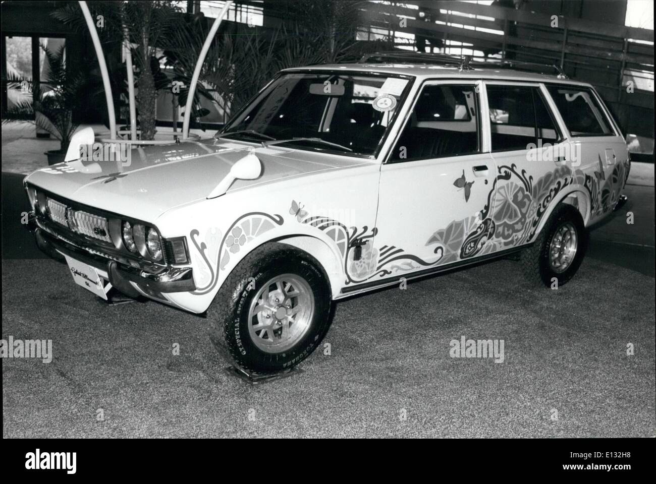 Feb. 26, 2012 - Brighter Motoring? This Mitsubishi-made Galant station wagon with a design of butterflies, flowers, Stock Photo