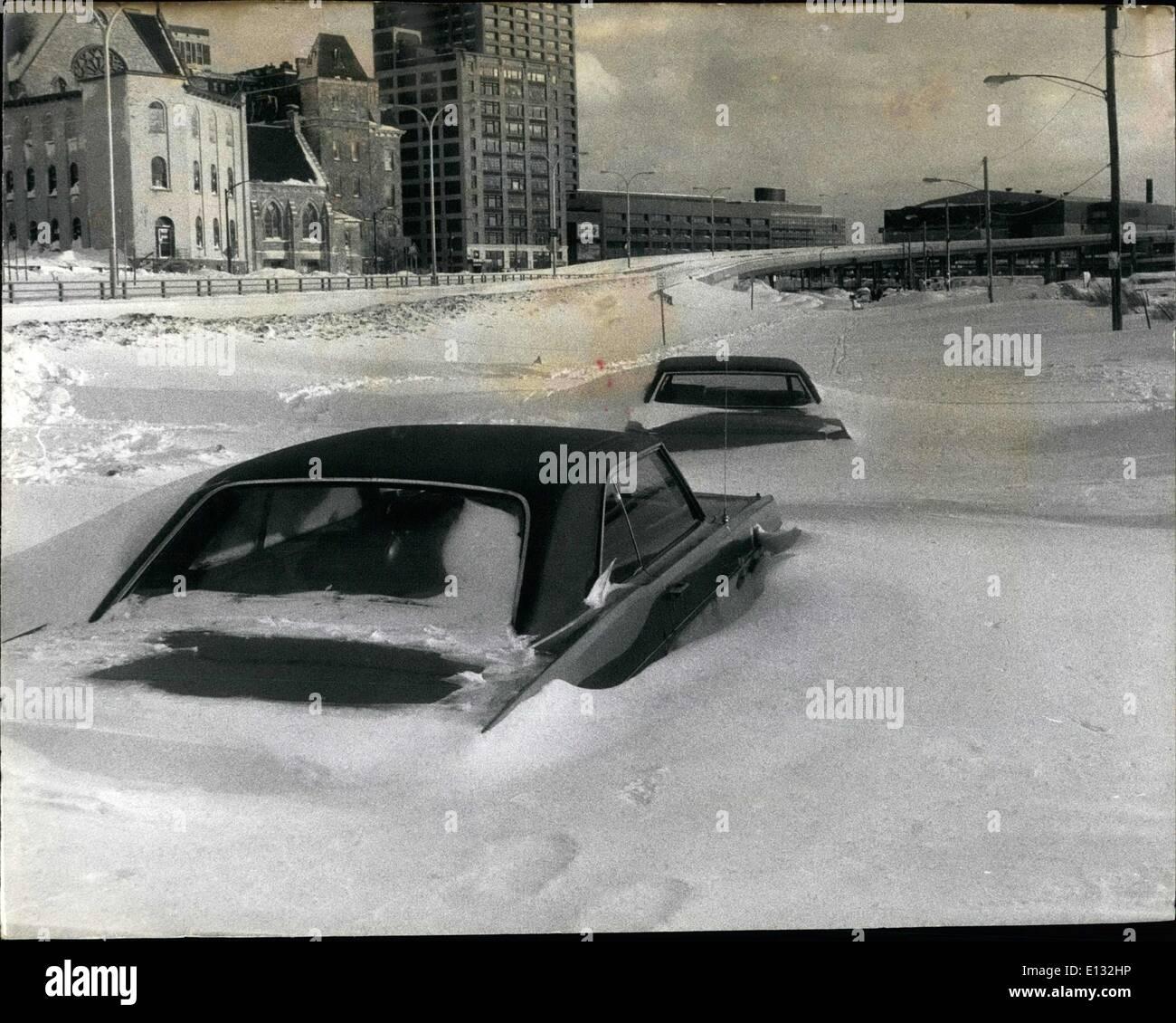 Feb. 26, 2012 - Buffalo, N.Y. snowed in. - Stock Image