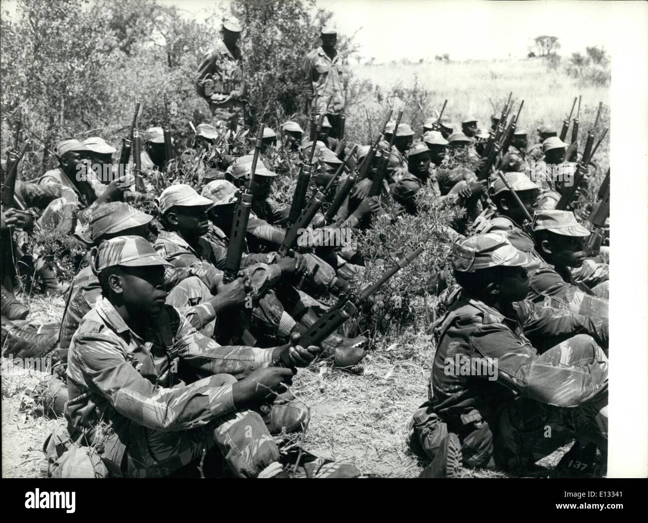 Feb. 26, 2012 - Ian Smith's Black Troops: Most of the Rhodesian Armed Forces are black, and it is these men who are bearing the - Stock Image