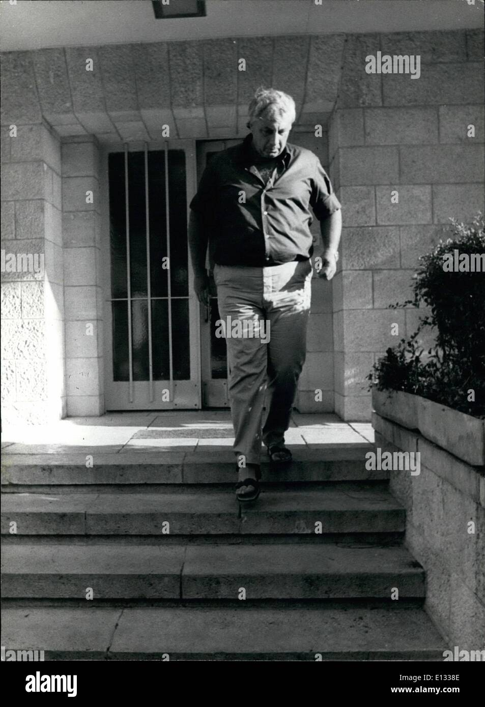 Feb. 26, 2012 - General Ariel Sharon nominated as Special adviser for National Security of Israel. 6/75 - Stock Image