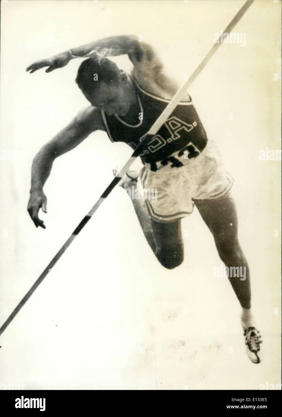 Feb. 26, 2012 - Olympic Pole vault-Rome 1960 - Stock Image