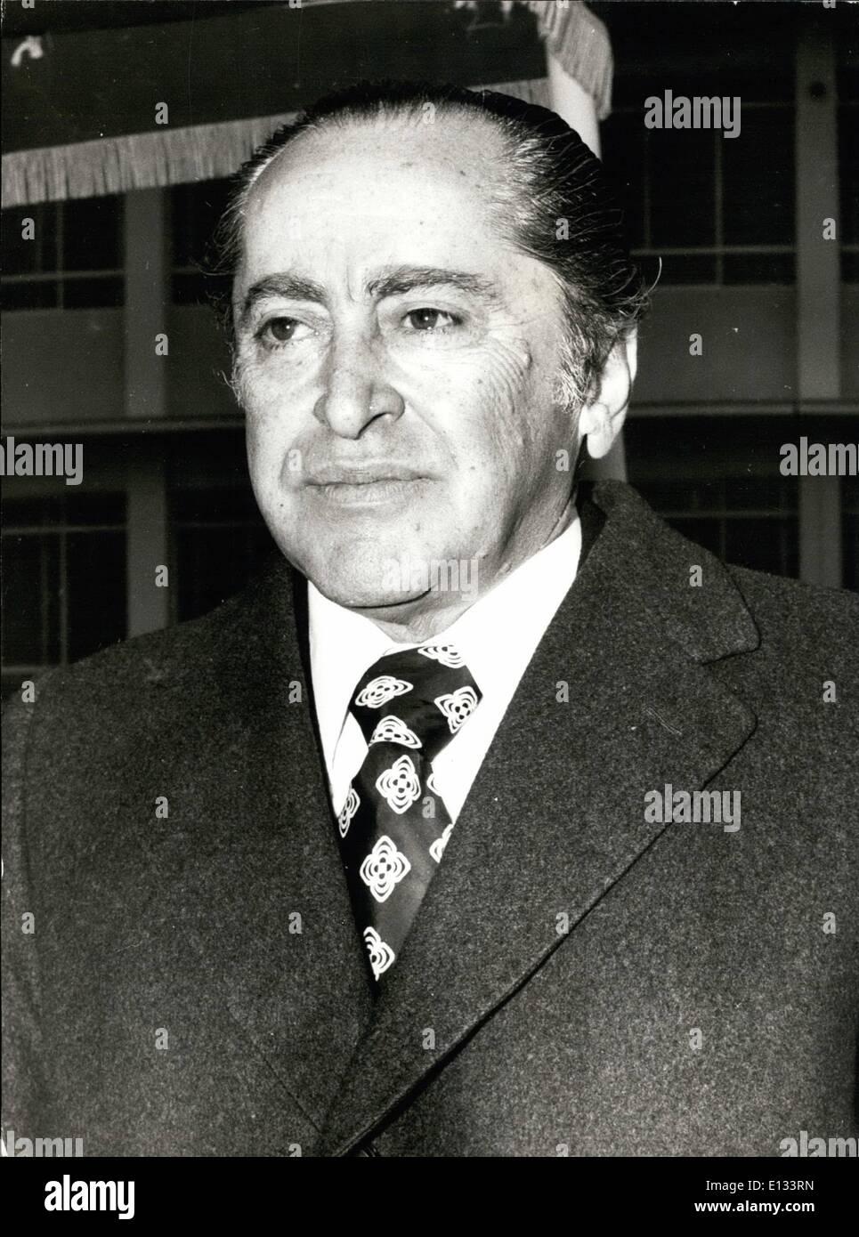 Feb. 26, 2012 - Deputy Premier, Konstantinos Rallis - Stock Image
