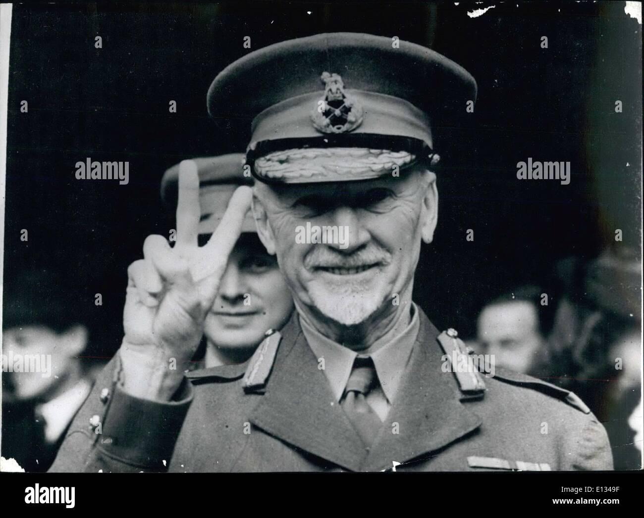 Feb. 28, 2012 - General Smuts - Stock Image