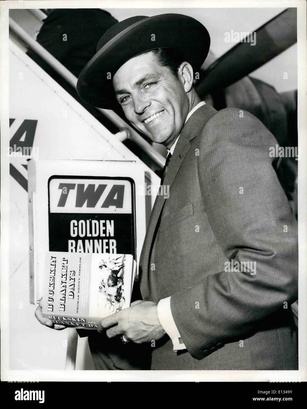 Feb. 28, 2012 - Idewild Airport, N.Y., Sept 14 - Dale Robertson, Star Of The TV Series ''Tales Of Wells Fargo'', Stock Photo