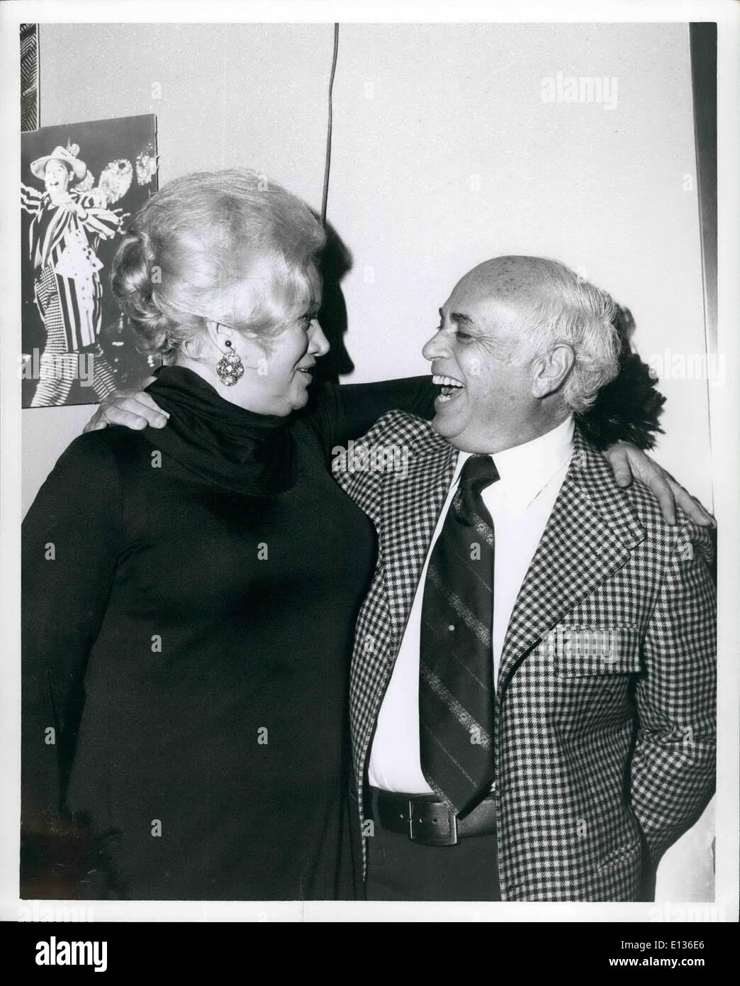 Feb. 28, 2012 - TV personality, Dagmar, with Allen Funt of ''Candid Camera' - Stock Image