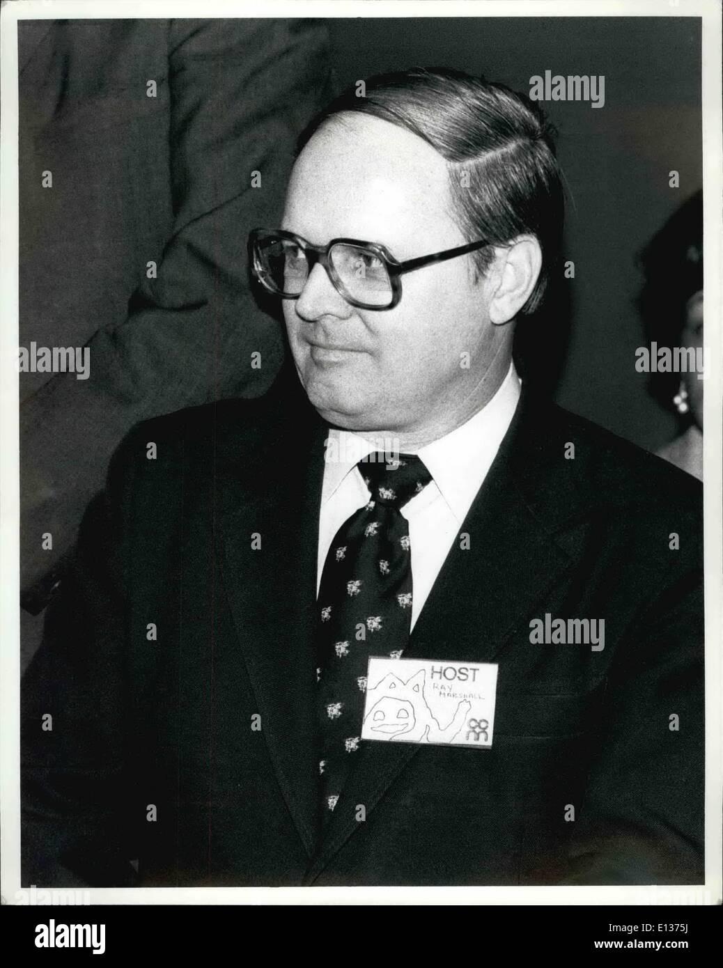 Feb. 29, 2012 - Ray Marshall - Stock Image