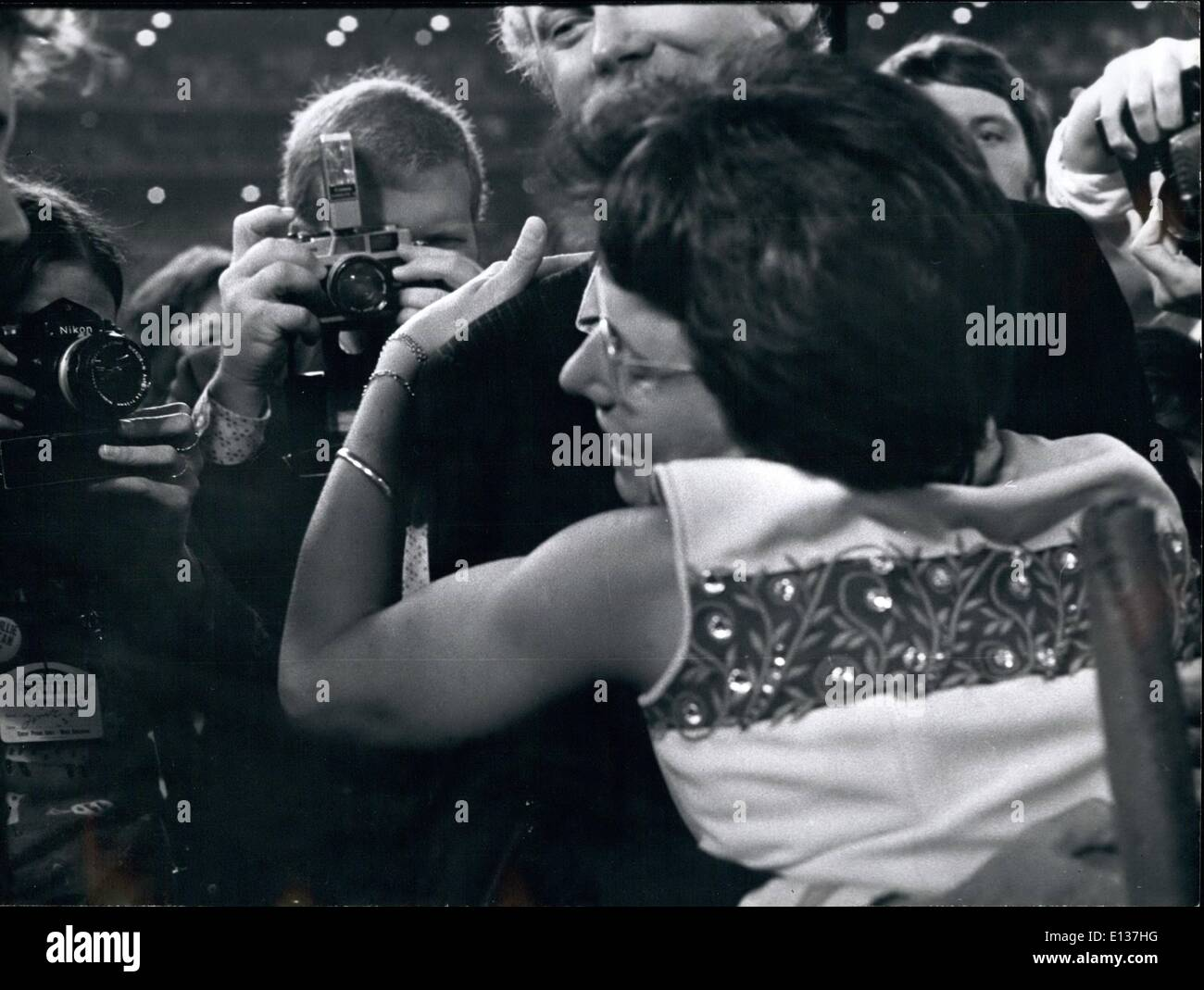 Feb. 29, 2012 - Houston Astrodome. King wins with husband Garry . - Stock Image