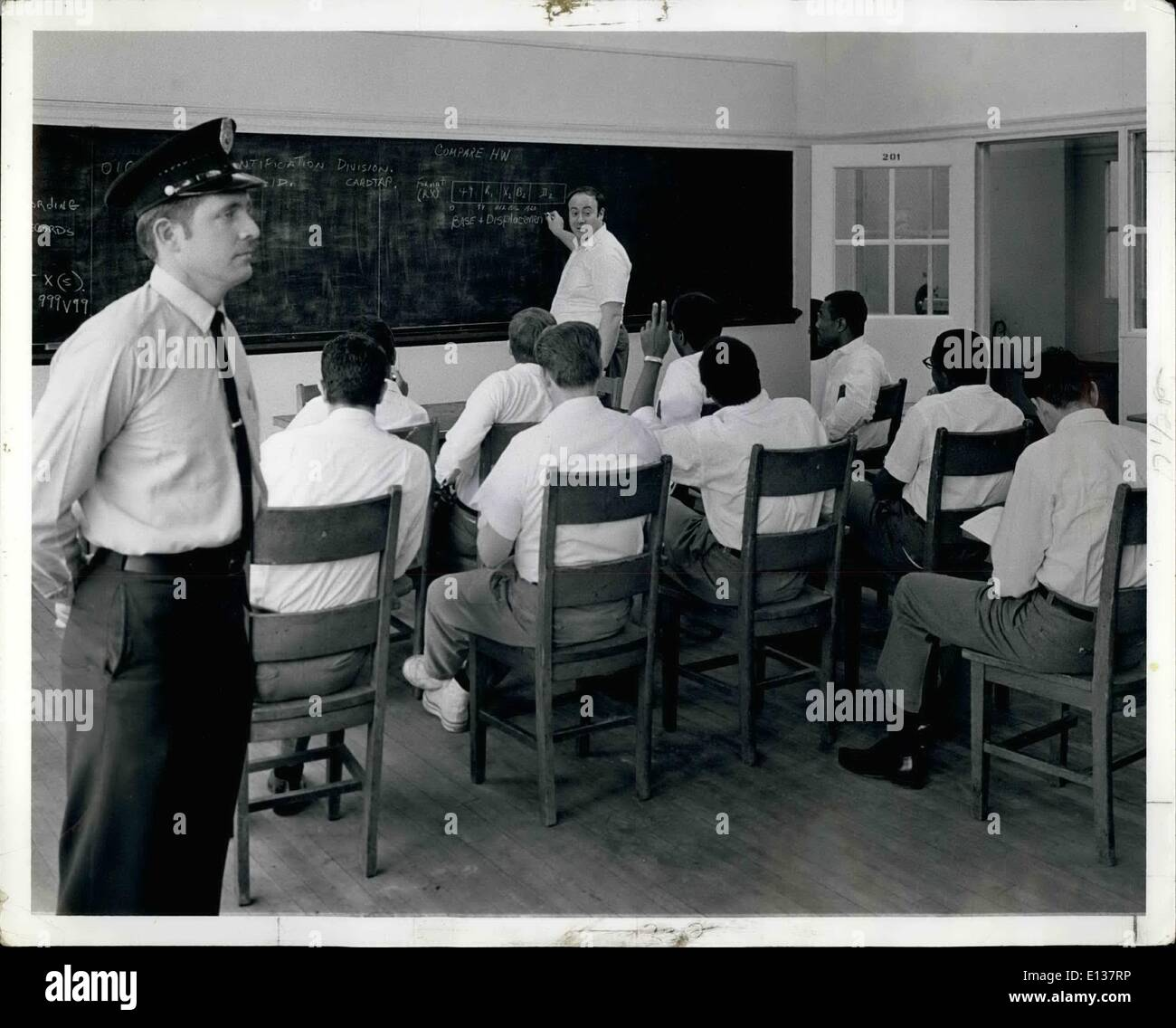 Feb. 29, 2012 - Sing sing convicts trained in computer skills: Ossining, N.Y. - Correction officer Joseph D. Cassidy left stan - Stock Image