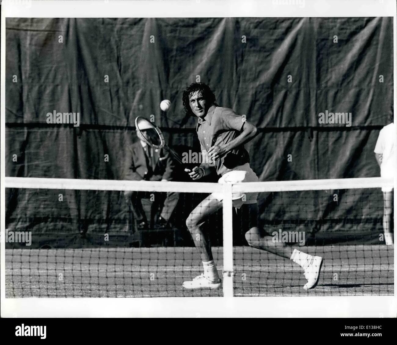 Feb. 29, 2012 - Mens US Tennis open winner Rumanian Ilie Nastasie - Stock Image
