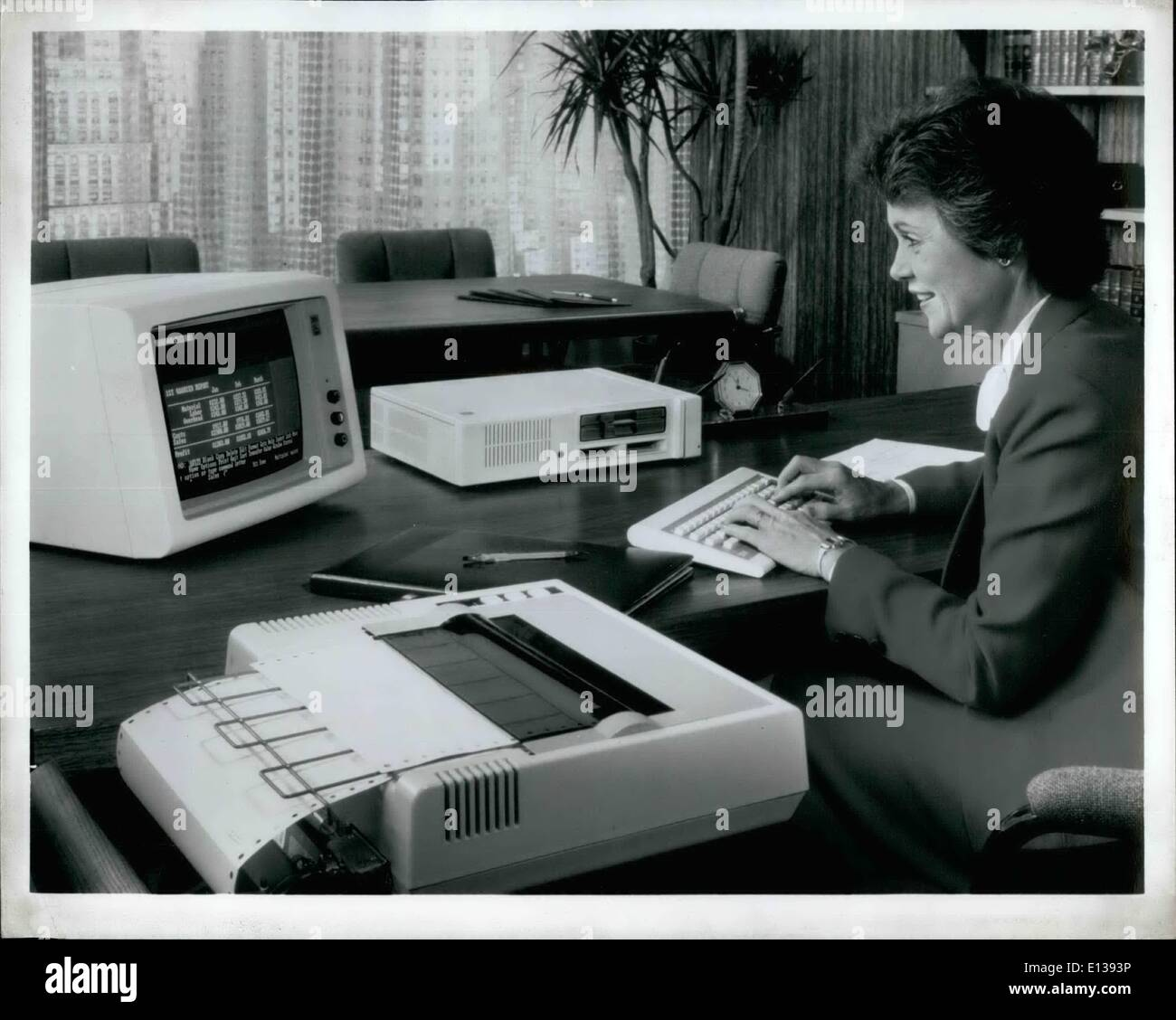 Feb. 29, 2012 - The Most Affordable computer ever offered by IBM, the Pcjr, is an easy-to-use and versatile system - Stock Image