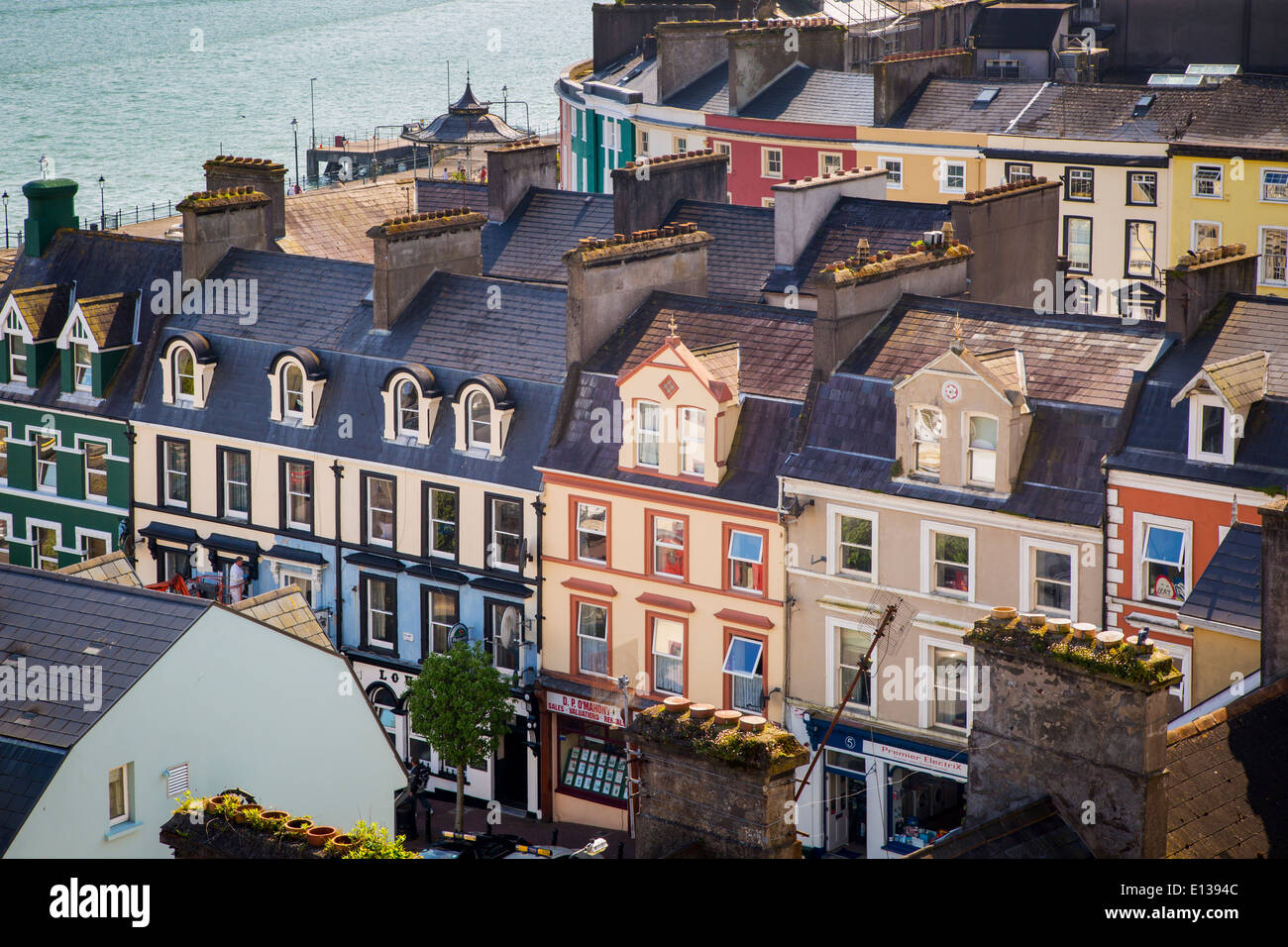 Attached homes near the wharf, Cobh, County Cork, Ireland - Stock Image