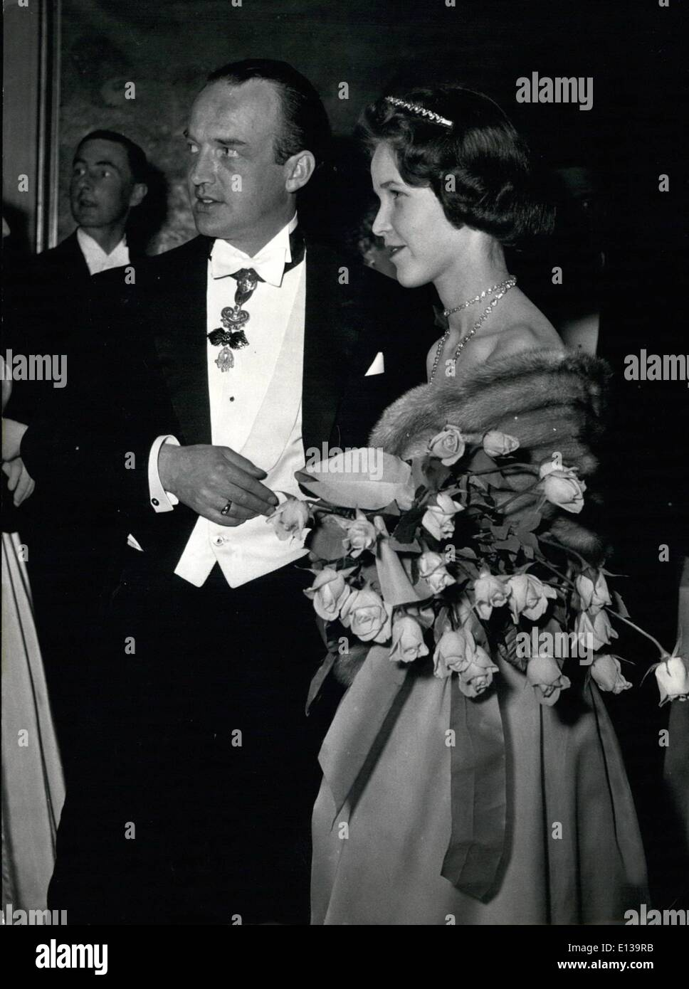 Feb. 29, 2012 - Nuptial-Eve at Munich Hotel ''Four Seasons'' according to the wedding of Countess Helen of Teorringjettenbach and Arch Duke Ferdinand of Austria. Photo shows Countess Helen of Toerring and Archduke Ferdinand of Austria. Stock Photo