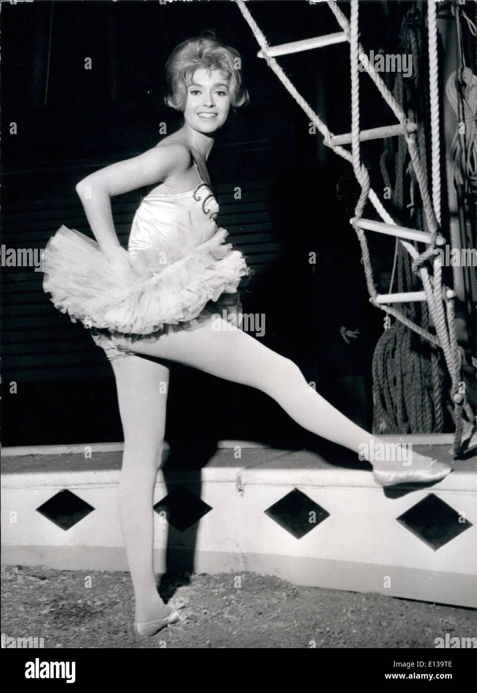 Feb. 29, 2012 - Ballet beneath the big top: Meet lovely Yvonne Monlaur who stars as a French Equestrienne Dallerina in ''Circus - Stock Image