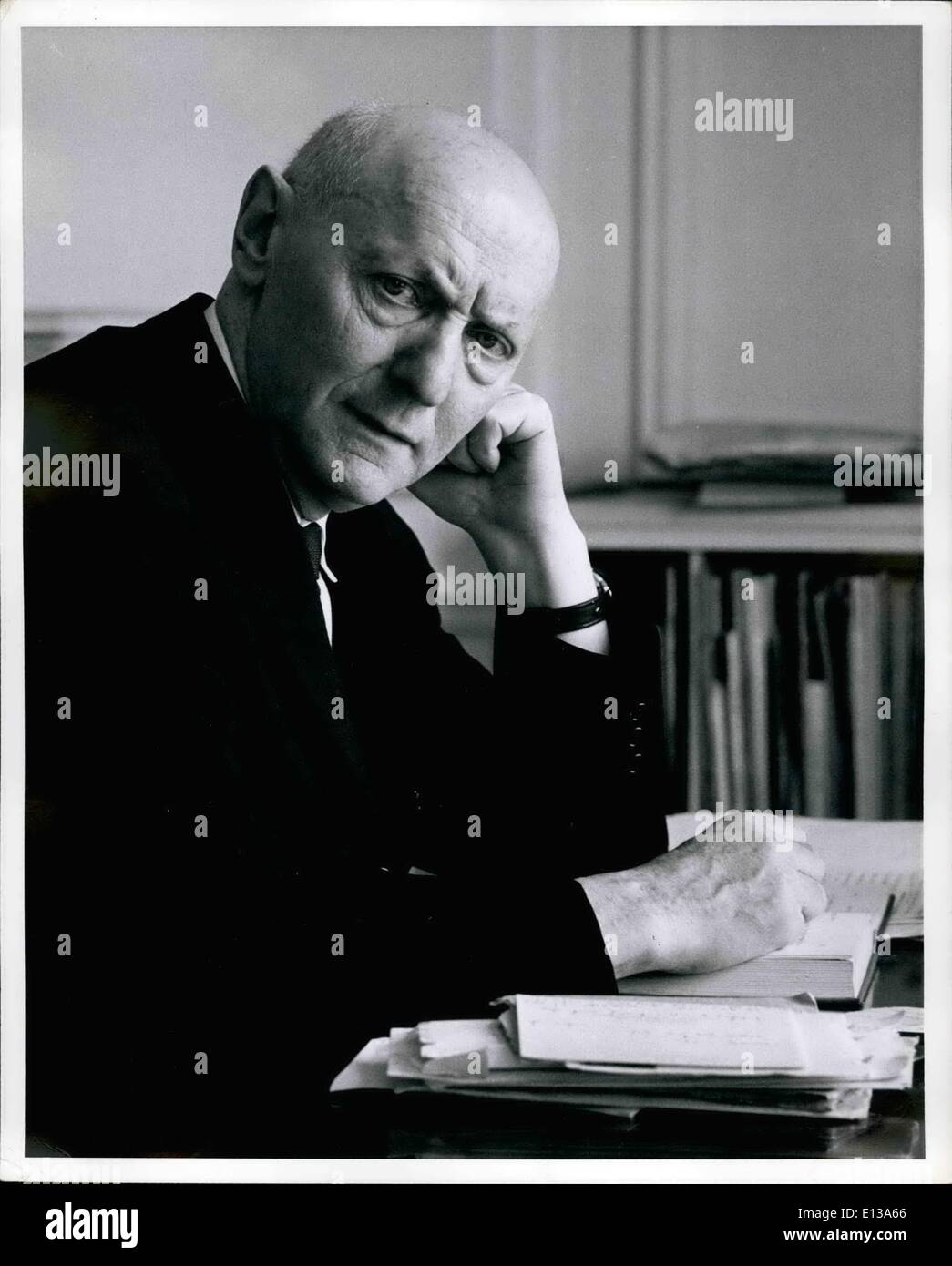 Feb. 29, 2012 - Nobel prize in Literature 1978 Isaac B. Singer(from stoch) - Stock Image