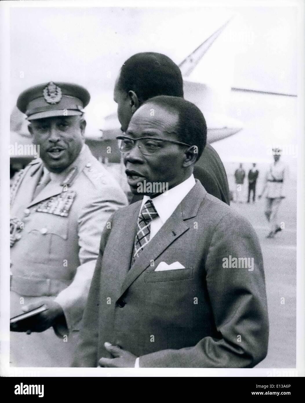 Feb. 29, 2012 - 10th OAV meeting Addis Abbaba, May 23, 1973 arrival of Severpol President Leopold Senghor. C - Stock Image